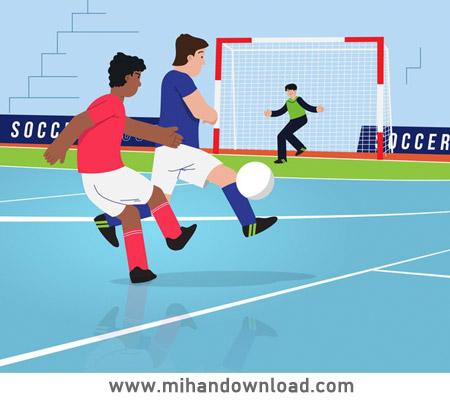 آموزش 5 شیوه ارسال پاس های بلند در فوتبال