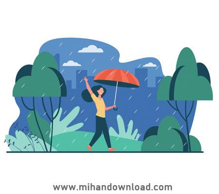 آموزش ایجاد افکت باران و خیس کردن زمین در فتوشاپ