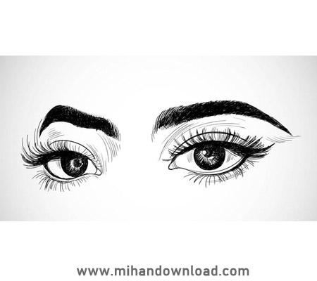 آموزش حرفه ای طراحی چشم با مداد
