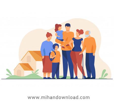 آموزش اعضای خانواده و نسبت های خانوادگی به زبان فرانسوی