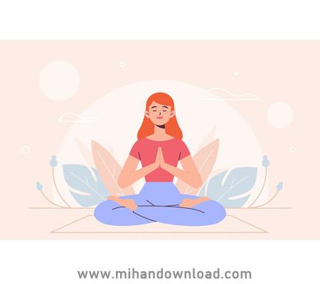 آموزش یوگا فارسی بعد از یک روز کاری
