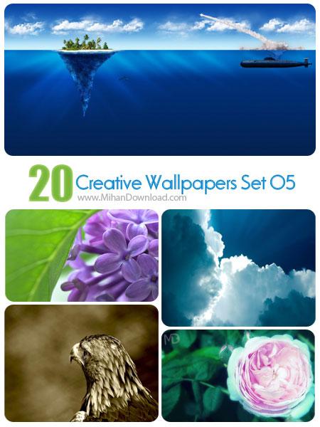 دانلود مجموعه عکس خلاقانه Creative Wallpapers Set 05