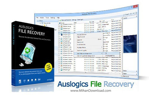 File Recovery دانلود Auslogics File Recovery 4 4 2 0 Final نرم افزار بازیابی اطلاعات