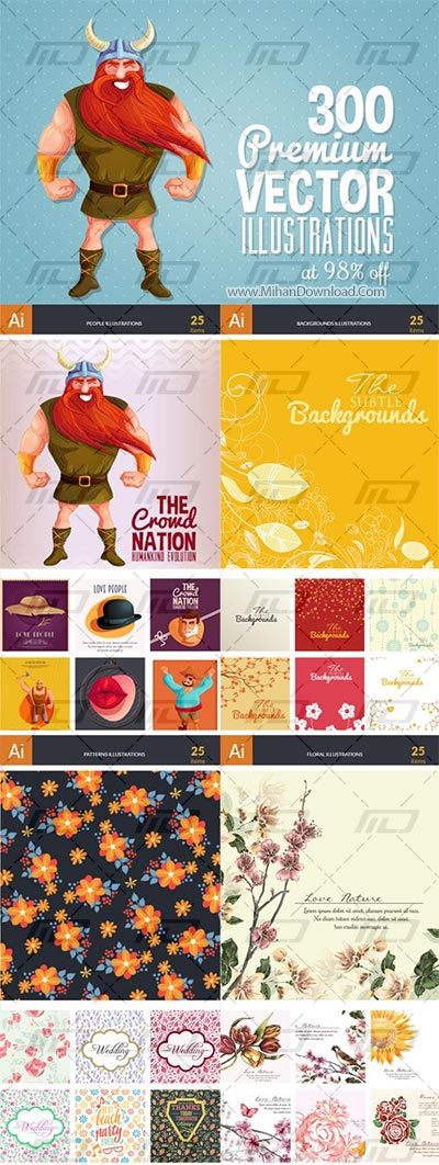 Get-300-Premium-Vector-Illustrations