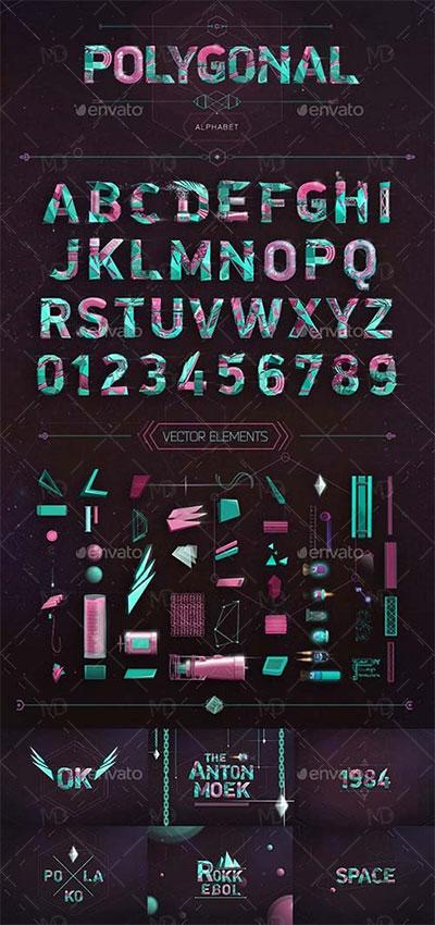 GraphicRiver-Polygonal-Alphabet