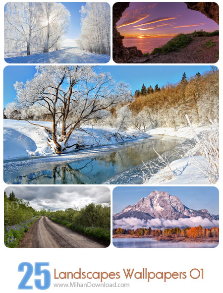 دانلود Landscapes Wallpapers Set 01 مجموعه اول از تصاویر زیبا از مناظر