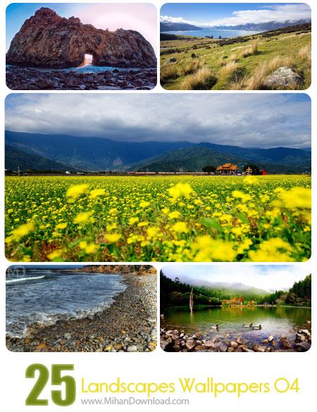 دانلود Landscapes Wallpapers Set 04 مجموعه چهارم از تصاویر مناظر