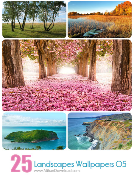 دانلود مجموعه عکس مناظر Landscapes Wallpapers Set 05