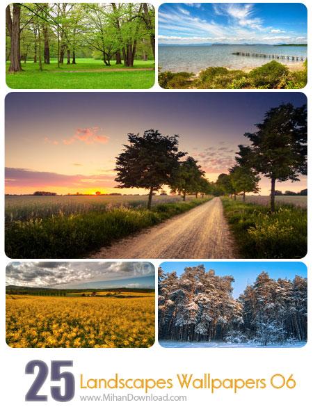 دانلود مجموعه عکس مناظر Landscapes Wallpapers Set 06