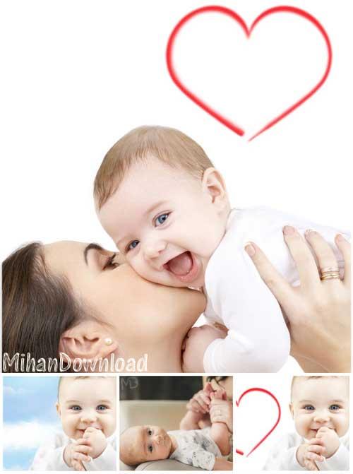 دانلود عکس با کیفیت مادر و نوزاد Stock Photos Mother And Child