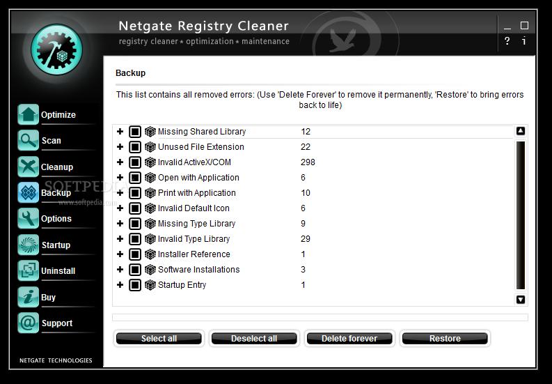 NETGATE Registry Cleaner 4 نرم افزار بهینه ساز ریجستری NETGATE Registry Cleaner 6 0 505 0