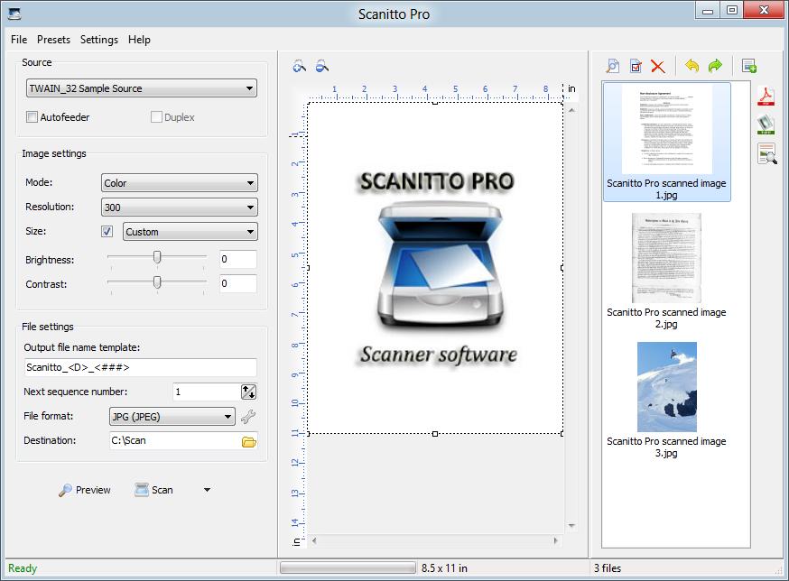 Scanitto Pro1 دانلود Scanitto Pro 3.1.0.0 نرم افزار اسکن تصاویر