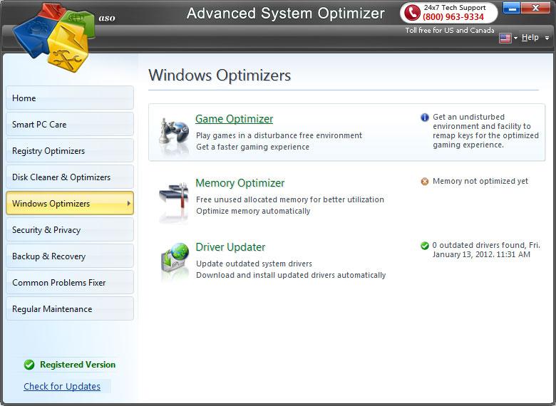 ScreenShots.Advanced.System 2 دانلود Advanced System Optimizer 3 5 1000 15646 نرم افزار بهینه ساز ویندوز