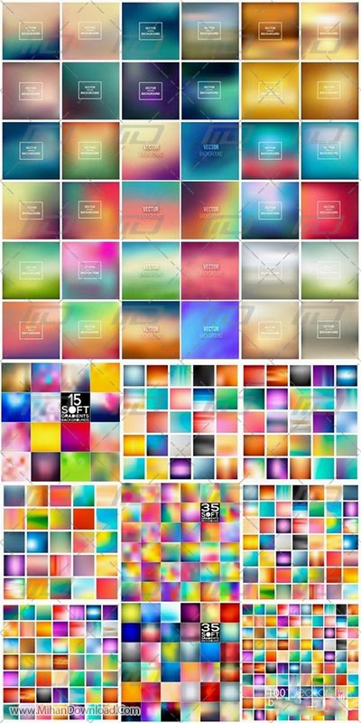 Soft gradient and blurred backgrounds