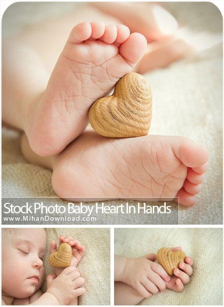 دانلود عکس با کيفيت قلب در دست نوزاد Stock Photos Baby Heart In Hands