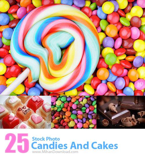 دانلود عکس با کيفيت آب نبات و کیک Stock Photos Candies And Cakes