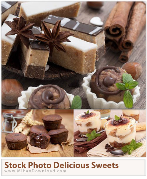 دانلود عکس با کيفيت شیرینی خوشمزه Stock Photos Delicious Sweets