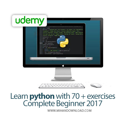 Udemy Learn python with 70+ exercises Complete Beginner
