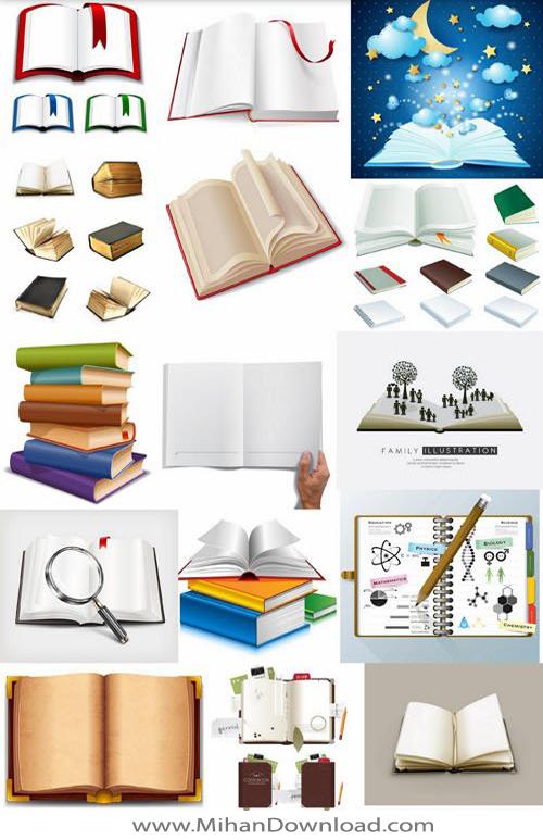 وکتور کتاب و کتاب خوانی
