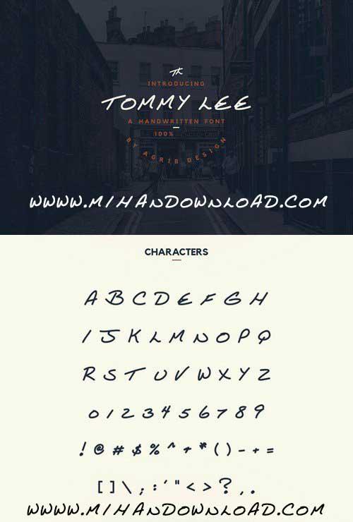دانلود فونت جدید تامی لی Tommy Lee Font
