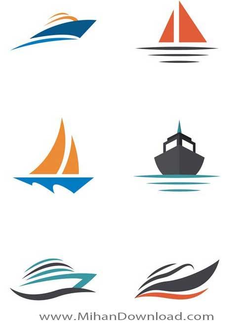 دانلود مجموعه وکتور های حمل و نقل از قایق و کشتی