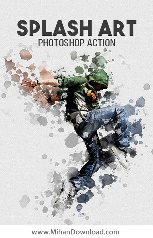 دانلود اکشن فتوشاپ هنر اسپلش Splash Art Photoshop Action