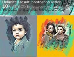دانلود اکشن فتوشاپ تبدیل عکس به نقاشی رنگ روغن