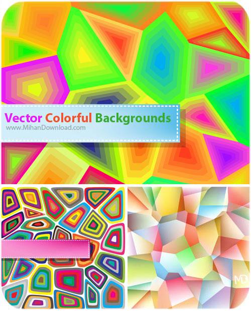 دانلود وکتور پست زمینه رنگارنگ Vectors Colorful Backgrounds