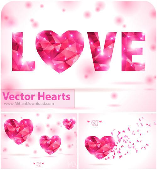 دانلود وکتور قلب فوق العاده زیبا Vectors Hearts