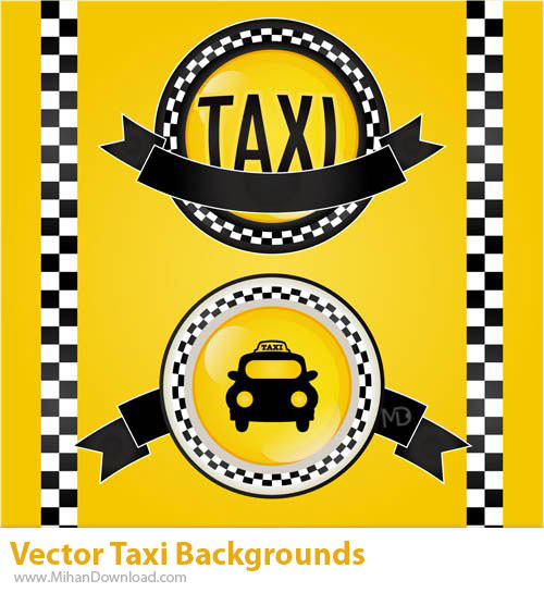 دانلود وکتور تاکسي Vectors Taxi Backgrounds