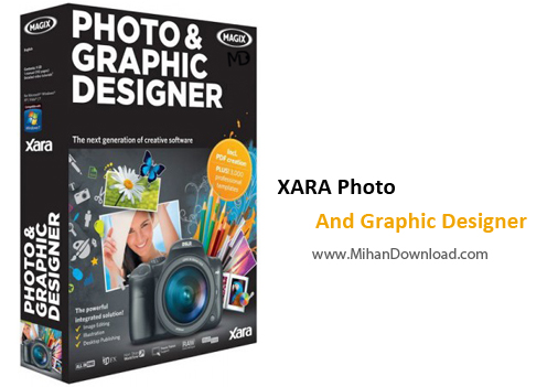 XARA Photo And Graphic Designer 2013 v8.1.3.23942 www.MihanDownload.com  دانلود Xara Photo and Graphic Designer 9.2.3.29638 نرم افزار طراحی و ترسیم طراحی