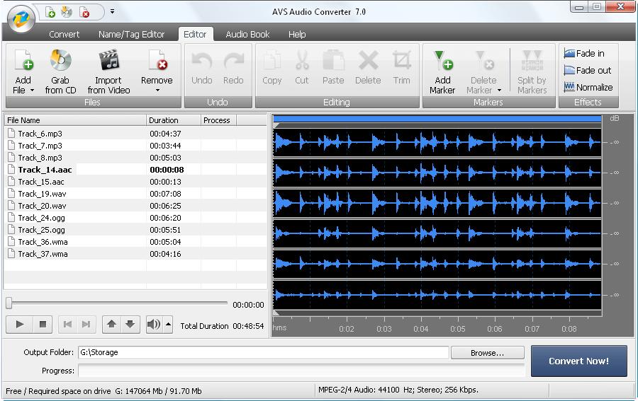 screenshot.AVS .Audio .Converter 2 دانلود AVS Audio Converter 7 2 2 529 نرم افزار تبدیل فرمت فایل های صوتی