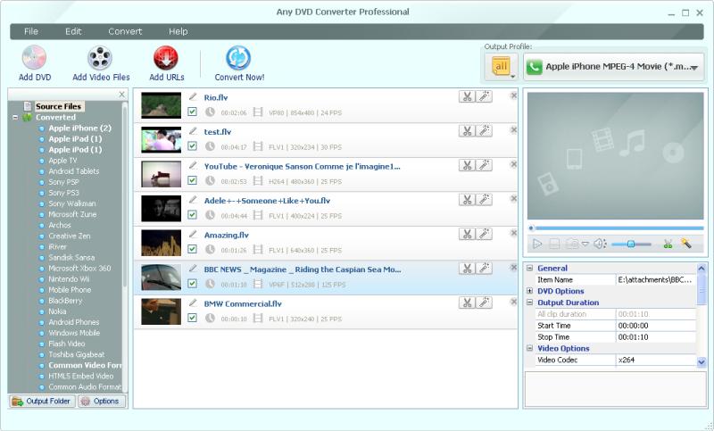 screenshot.Any .DVD .Converter.Professional تبدیل فرمت های صوتی و تصویری Any DVD Converter Professional 5 5 7