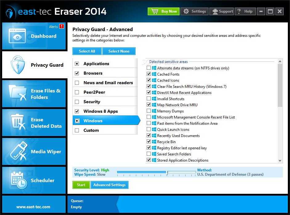 screenshot.East Tec.Eraser نرم افزار پاکسازی کامل ردپا East Tec Eraser 2014 11 0 7 100