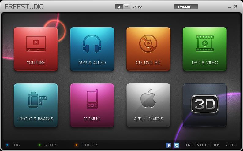 screenshot.Free .Studio نرم افزار تبدیل فایلهای صوتی و تصویری Free Studio 6 2 17 424