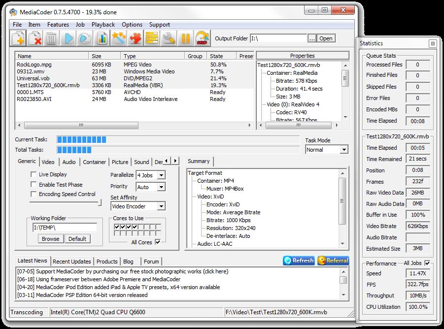 screenshot.MediaCoder