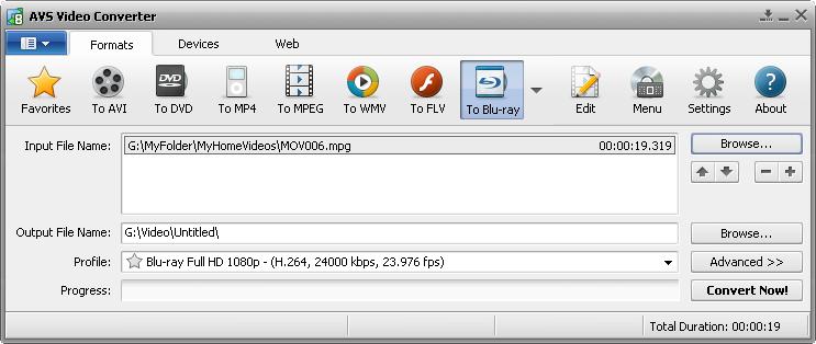 screenshot.VideoConverter دانلود AVS Video Converter 8 5 1 551 نرم افزار تبدیل فرمت فایل های ویدئویی