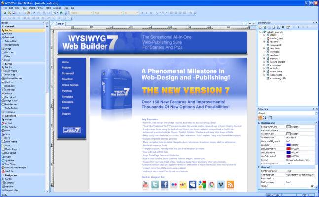 screenshot.WYSIWYG.Web .Builder  نرم افزار طراحی وب WYSIWYG Web Builder 9 3 0