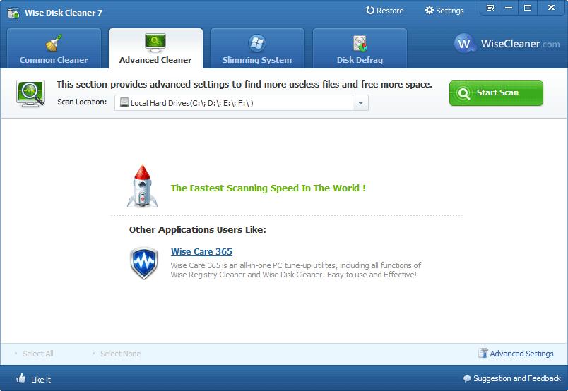 screenshot.Wise Disk Cleaner 2 دانلود Wise Disk Cleaner 7 99 Build 570 نرم افزار پاکسازی هارد دیسک